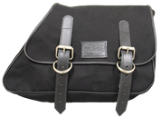 82-03 Harley-Davidson XL Sportster Right Side Eliminator Canvas Saddle Bag -Black Canvas