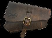 Left Side Solo Saddle Bag for 2016 & Up Triumph Bobber Rustic Brown