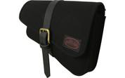 Right Side Black Canvas Solo Saddle Bag for 2016 & Up Triumph Bobber