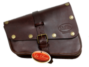 Right Side Solo Saddle Bag for 2016 & Up Triumph Bobber - Burgundy with Star Rivets