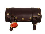 Front Forks Tool Bag -Burgundy Leather with Star Rivets