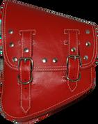 La Rosa Harley-Davidson All Softail Models Left Side Solo Saddle Bag  Swingarm Bag Red Riveted