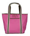 Monogrammed Ribbon Trimmed Extra Large Tote