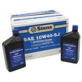 4-Cycle Engine Oil / 10W40-SJ Wt, Twelve 32 oz. bottles