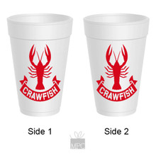 Crawfish Boil Banner Styrofoam Cups