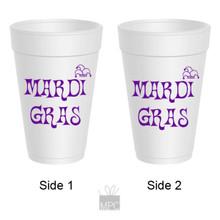 Mardi Gras Jester Hat Styrofoam Cups