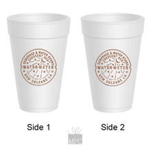 New Orleans Watermeter Styrofoam Cups