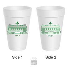 Canal Street Streetcar Styrofoam Cups