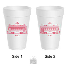 St. Charles Avenue Streetcar Styrofoam Cups