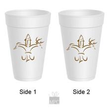 Sportsman Fleur De Lis Styrofoam Cups