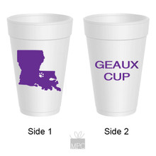 Louisiana Fan Styrofoam Cups