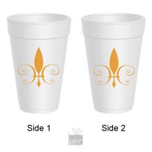 Styrofoam Cup - Fleur de Lis - 16 oz - 10 ct. FDL15