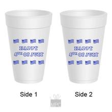 Styrofoam Cup  Happy 4th of July     JU2