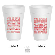 Patriotic Styrofoam Cup  4th of July     JU10
