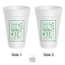 St Patrick's Day Irish Drink It Styrofoam Cups