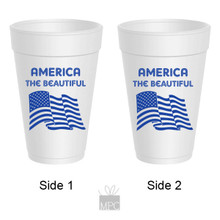 Styrofoam Cup  4th of July     JU11