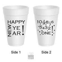Happy New Year's Styrofoam Cups