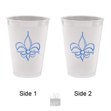 Frost Flex Plastic Cup  Fleur De Lis New Orleans     G95