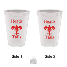 Crawfish Boil Heads or Tails Frost Flex Plastic Cups