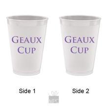 Geaux Cup Frost Flex Plastic Cups