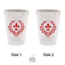 Frost Flex Plastic Cup  Fleur De Lis     FDL23