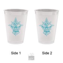 Frost Flex Plastic Cup  Fleur De Lis     FDL26