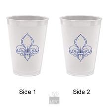 Frost Flex Plastic Cup  Fleur De Lis     FDL25