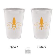 Frost Flex Plastic Cup  Fleur de Lis     FDL15