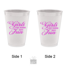 Frost Flex Plastic Cup  Girls Wanna Have Fun     G103