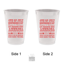 4th of July Frost Flex Plastic Cups