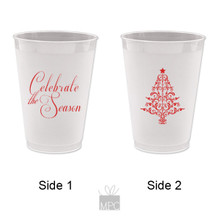 Merry Christmas Celebrate the Season Frost Flex Plastic Cups