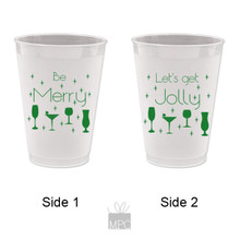 Christmas Be Merry Frost Flex Plastic Cups