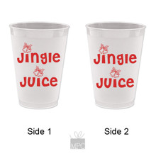 Christmas Jingle Juice Frost Flex Plastic Cups