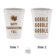 Thanksgiving Gobble Gobble Gobble Frost Flex Plastic Cups