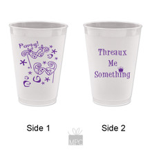 Mardi Gras Threaux Me Something Party Frost Flex Plastic Cups