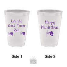 Mardi Gras Let the Good Times Roll Frost Flex Plastic Cups