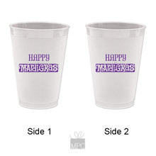 Mardi Gras Happy Mardi Gras Frost Flex Plastic Cups