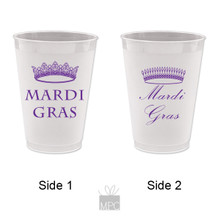 Mardi Gras King and Queen Crown Frost Flex Plastic Cups