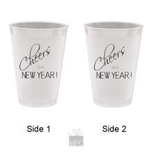 New Year Happy New Year's Cheers To a New Year Frost Flex Plastic Cups