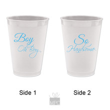 Baby Shower It's A Boy, Boy Oh Boy Frost Flex Plastic Cups