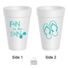 Summer Fun In The Sun Flip Flops Styrofoam Cups