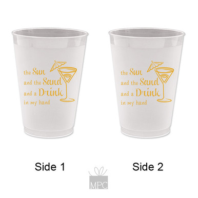 Girls Night Out Bachelorette Frost Flex Plastic Cups
