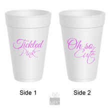 Baby Shower Tickled Pink It's A Girl Styrofoam Cups