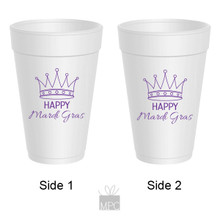 Mardi Gras Crown Styrofoam Cups