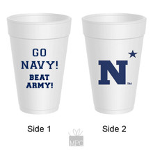 Styrofoam Cup  Go Navy Beat Army     AS5