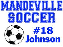 Mandeville High School Soccer Yard Sign