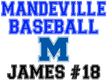 Mandeville High School Baseball Yard Sign (M)