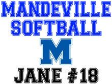 Mandeville High School Softball Yard Sign (M)