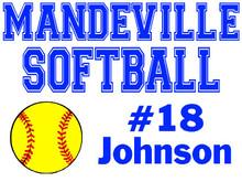 Mandeville High School Softball Yard Sign