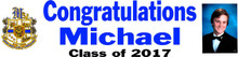 "Graduation Banner - Mandeville High School - 15"" x 60"" with Picture"